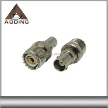 RF coaxial BNC female to UHF female connector adapter