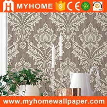 Beautiful flowers wallpaper sound-absorbing deep embossed wallpaper made in China