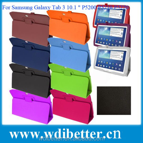 Factory Price Tablet Case For Samsung Galaxy P5200 With 10 Colors