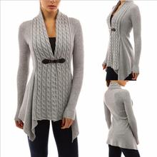 sh20079a New style cotton top quality autumn cardigan knit sweater pure color women sweater