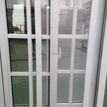 Half moon Locked PVC sliding window insert forsted glass/tinted glass/clear single or double glass pvc sliding window