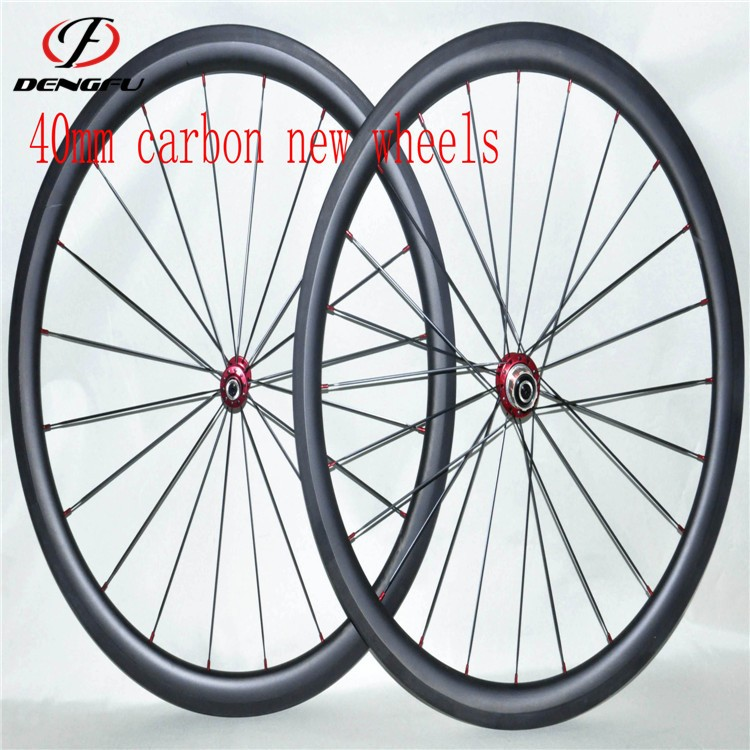 40mm depth carbon road bicycle wheels clincher rim 700c road carbon bicycle wheels