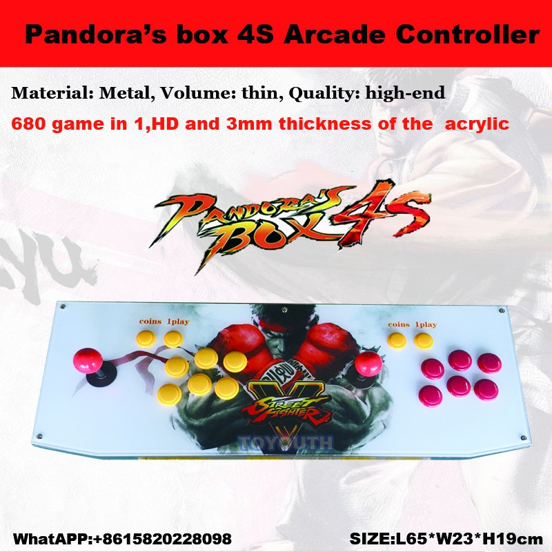 2017 Arcade Joystick game consoles with jamma multi games Pandora box 4s /680 in 1 game pcb board controller