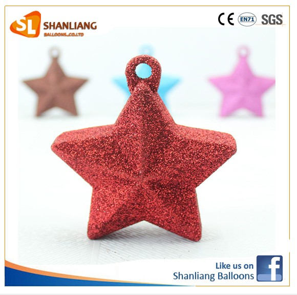 1pcs 98g Five Star shape Mix Color balloon weight