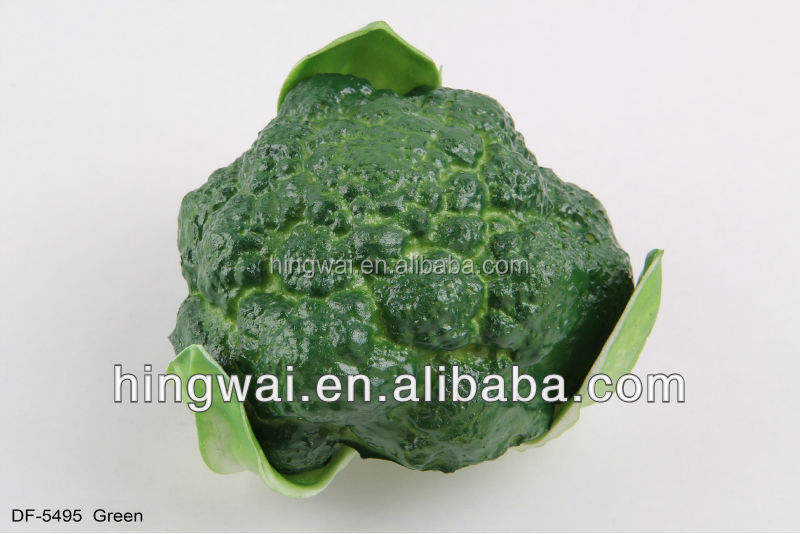12cm Artificial Vegetable Decoration Red / Green Cauliflower