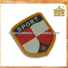 Iron on fashion spoorts woven patches for clothing