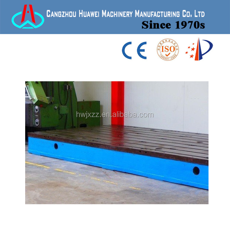 high precision t-slotted cast iron surface plates for assembly