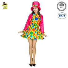 Halloween new design funny women clown fancy dress costume