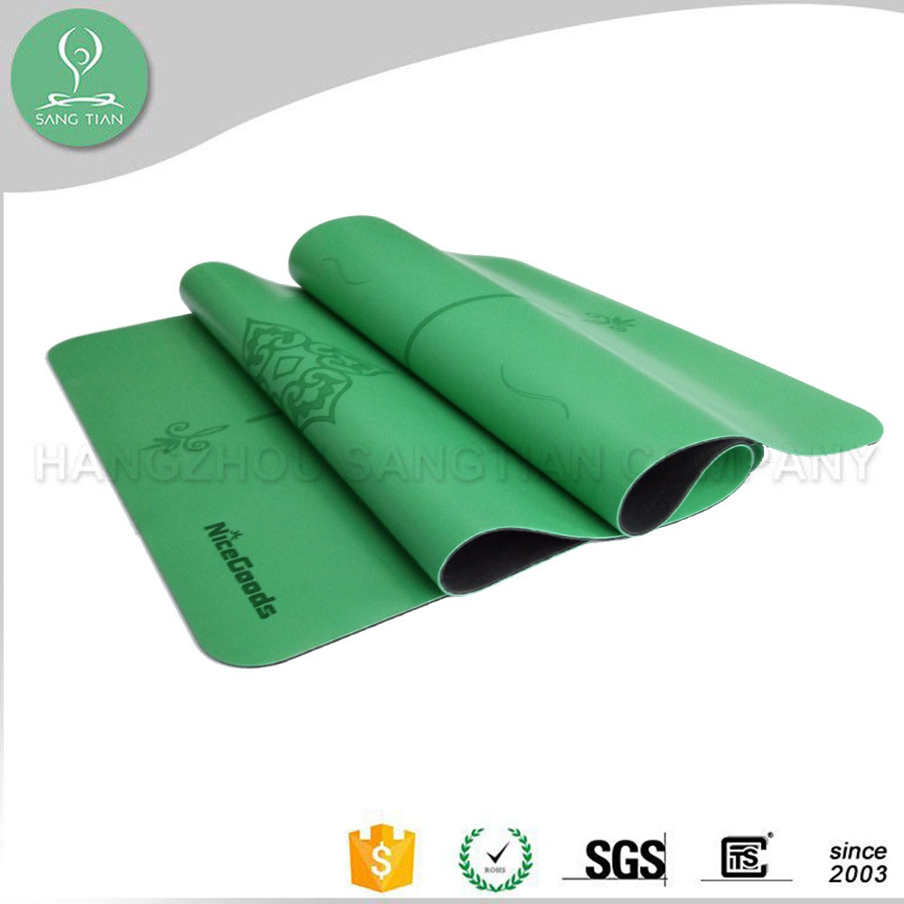 Quality ultra-grippy polyurethane non slip tree natural rubber pu yoga mat