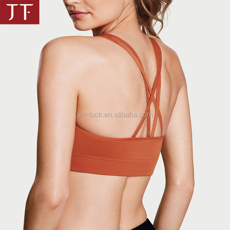 OEM Factory hot sexy ladies gym wear with mesh wholesale sports bra