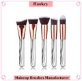 Amazon top selling 5pcs beauty Marbling Handle synthetic hair makeup brush set