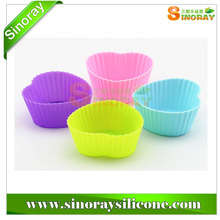 Heart Shape Silicone Chocolate Candy Cup Cake Baking Molds Dessert Tool