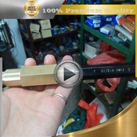 brass aluminum pen turning parts
