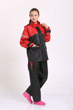 High quality firm waterproof red rain suit for men European hot