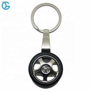 Custom Made Cool Car Wheel Tyre Key Ring