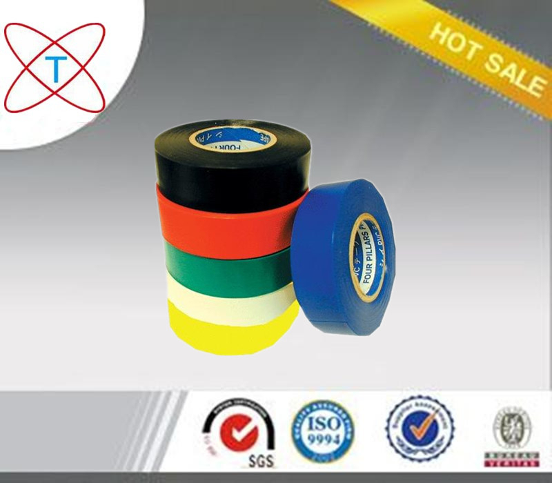Free Sample Colorful Custom Printed Adhesive Electrical Tape PVC Insulation Tape