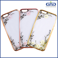 Plating TPU Case with Diamond for iPhone 6