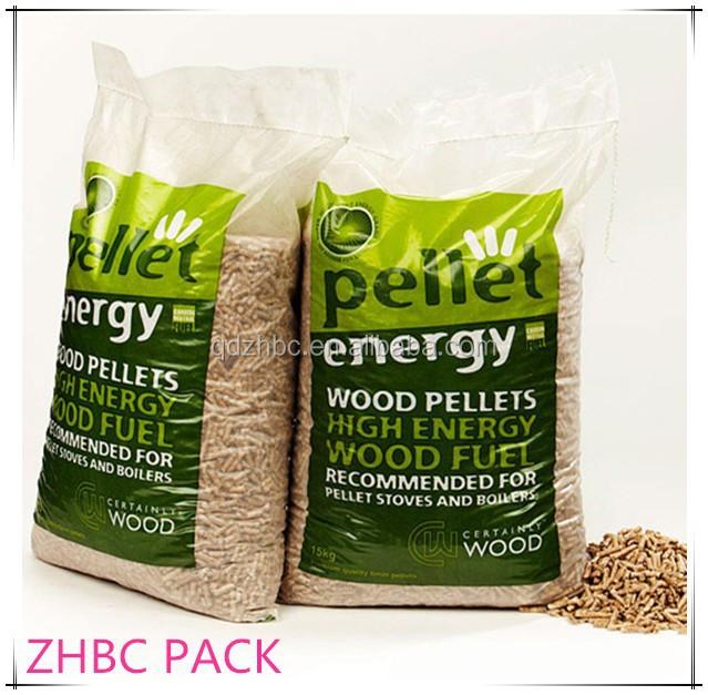 Printed plastic bags wood pellet supplier buy