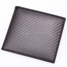 Excellent quality luxury 100% real carbon fiber wallet