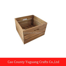 Unfinished custom wooden fruit storage crate wholesale cheap wooden crate
