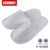 White closed toe hotel bedroom slippers nap cloth slipper, single sole