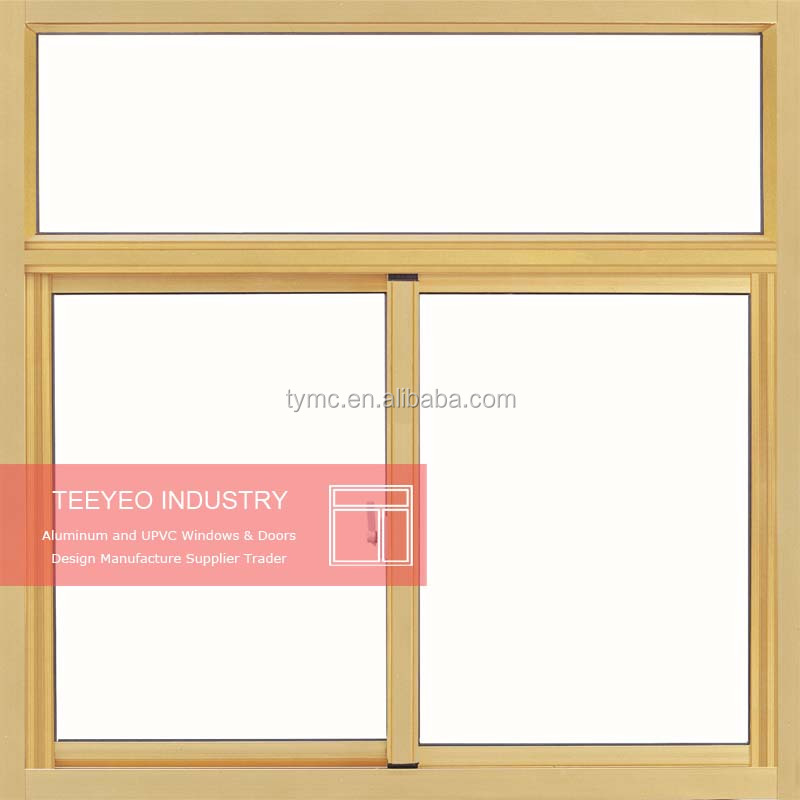 Teeyeo China estate collection windows &doors Aluminum horizontal sliding window with glazed glass