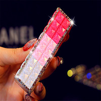 wholesale oem power bank lipstick ,2600mah power bank Diamond lipstick portable power bank for all smart phones
