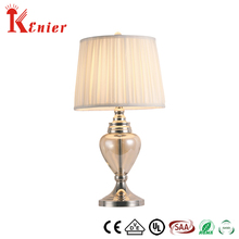 Good Quality Classic design Cheap Led Smart Retro Fabric Shade Glass Table Lamp