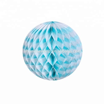 Good service baby shower tissue paper honeycomb lantern ball for decoration