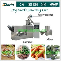 Rawhide Twist Bleached Chewing Pet Food Extrusion /chewing Dog Food Single Extruder 100kg/h