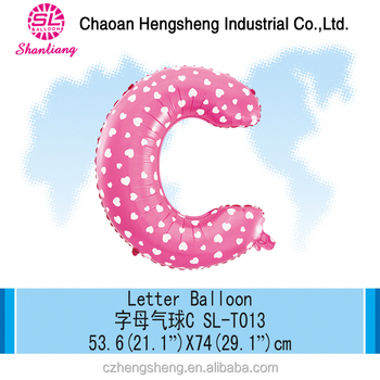 OEM Balloon decoration letters