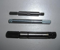 custom fabrication service cnc parts steel spline shaft motor shaft black oxide alxe shaft for electric motor