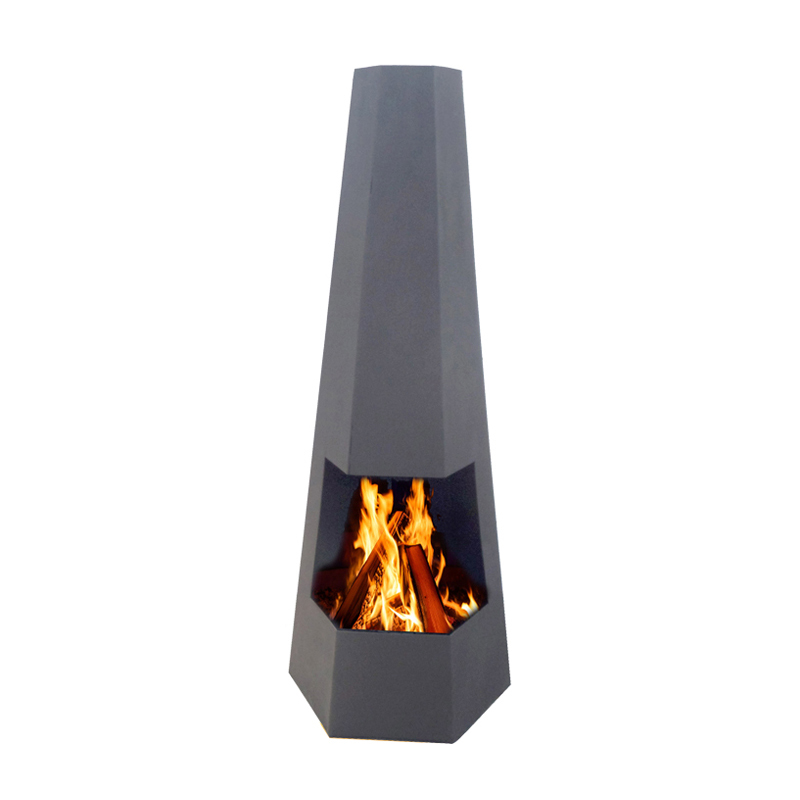 Cheap and fine outdoor high chimney steel chimenea