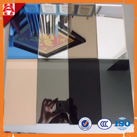 double coated COLOURED SILVER MIRROR GLASS