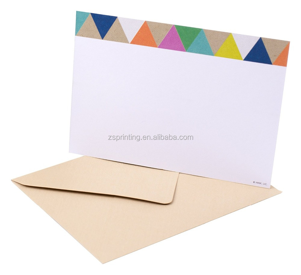 China factory wholesale panel paper note cards
