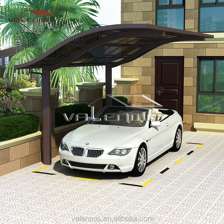 European Type Single Aluminum carports canopy / Car Garage with Polycarbonate Roof For Selling