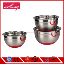 Special Design Stainless Steel Non-Slip Mixing Bowls with Ring Handle