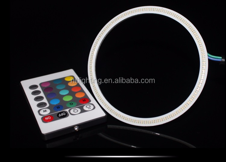 COB Angel Eyes Multi-Color RGB LED Halo Rings with Remote Controller