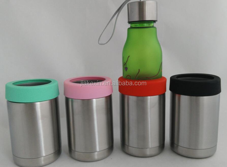 12oz Double wall stainless steel cup coat with Silicon Rubber Case