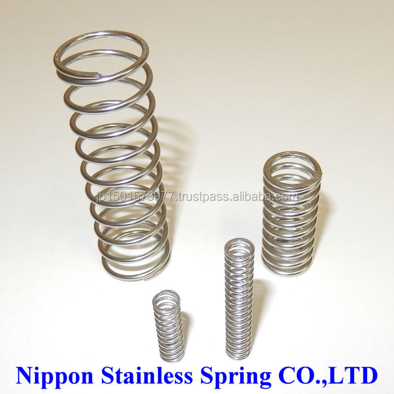 High precision specialty stainless steel compression coil springs for used construction equipment