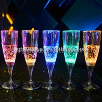 LED waterproof and Liquid active glow champagne glass