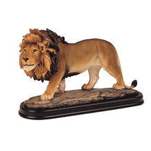 Animal Sculpture Bronze Desk Ornament Lion Figurines