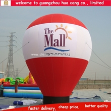 Outdoor decoration Inflatable advertising cold air big balloon,floor stand balloon