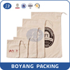 wholesale custom drawstring 100% cotton fabric bag