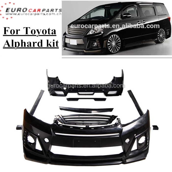 new arrival alp- w-style body kit fit for toyota alphard rojam style