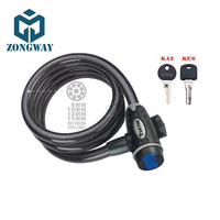 ZONGWAY Anti Theft MTB Bicycle key lock Bike lock with 2 Keys for Cycling Anti-Theft Bike Bicycle Scooter Safety Lock CSSPTY035