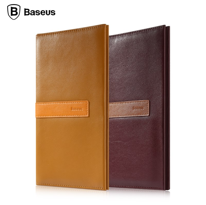 Baseus Chic Series Real Leather Pouch Case with Card Holder for iPhone 6 6s Plus Mobile Phone Under 5.5 inch Wallet Leather Case