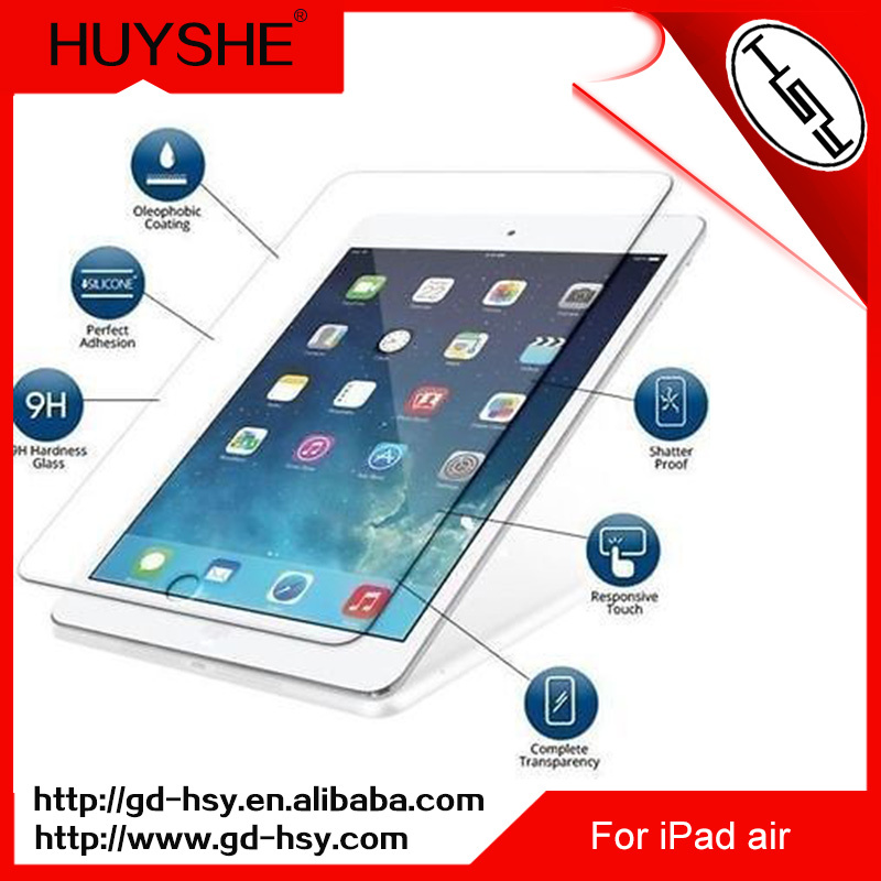 HUYSHE 2.5d tempered glass screen protectors for ipad air wholesale tempered glass screen protector