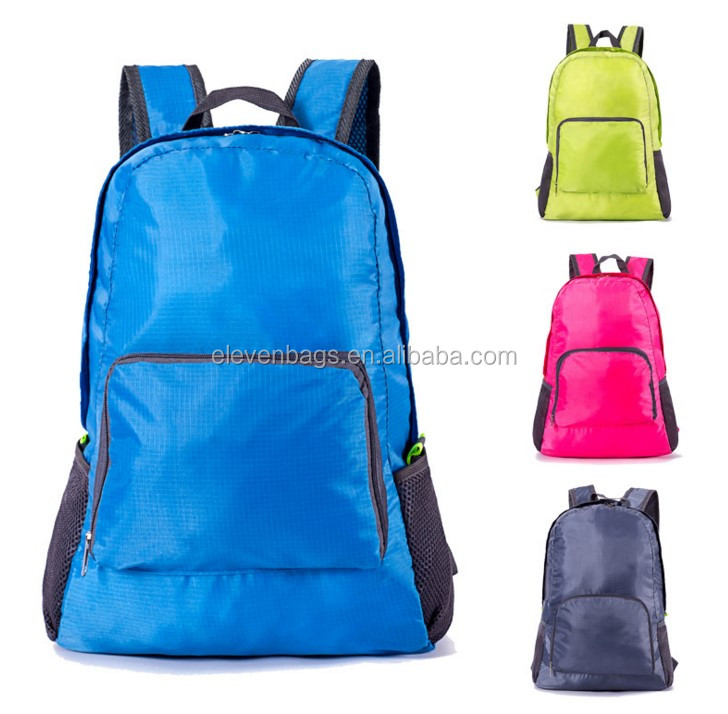 promotional lightweight waterproof travel foldable backpack