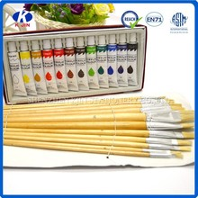 Artists oil colour paint in single tube for kids and student drawing
